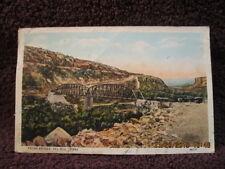 Antique Collectible 1933 Postcard Pecos Bridge Del Rio Texas Stamped & Posted
