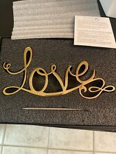 "LOVE CAKE TOPPER Polished GOLD 8""X4"""