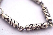 """925 Sterling Silver Cylinder Chain Bracelet.  6"""", 15cm, 15.1g"""