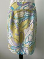 Andrea Viccaro Summer 100 % Silk Skirt Size 8 Excellent Condition
