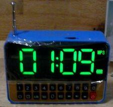 Mini Reise anlage WS1513 Radio FM Wecker Mediaplayer USB SD AUX IN FM 50W LCD