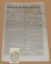 Giornale del Regno delle Due Sicilie 7 Gennaio 1843 Morcone Molise d'Agnese