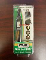 WAHL Nose Ear Brow Hair Wet/Dry HEAVY DUTY Battery Precision Trimmer Detailer