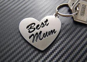 BEST MUM Mum Mummy Mother Mothers Day Keyring Keychain Key Stainless Steel Gift