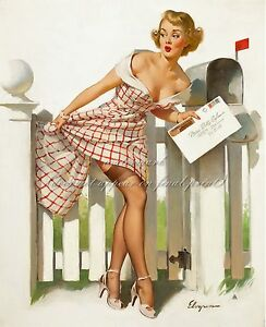 """GIL ELVGREN Vintage Painting Poster or Canvas Print /""""Check and Double Check/"""" #33"""