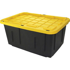 Tough Box 27-Gallon Storage Tote with Lid- 31inL x 21inW x 14.55inH 27GBLKYW