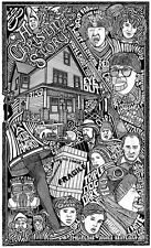A CHRISTMAS STORY MOVIE Hand Signed Posterography Letterpress Graffiti Art
