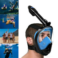Anti-Fog Full Face Mask Swimming Breath Diving Snorkel Scuba For GoPro S/M/L/XL