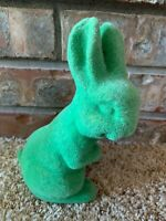 Flocked Grass Astro Turf Button Nose Easter Bunny Figurine Rabbit Green