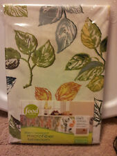 Food Network 60 x 120 Oblong Tablecloth Stain Resistant Multi-Color Microfiber