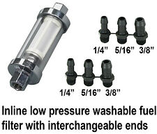 10mm 8mm & 6mm Low pressure petrol fuel filter classic car & motorbikes inline