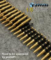 "1/6 ZY Toys 50PC Caliber Metal Machine Bullet Chain DIY Fit 12"" Figure Model"