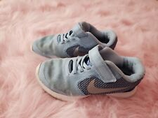 girls baby blue nike sneakers shoes size 12 12.5