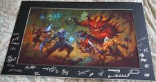 Blizzcon 2017 Exclusive Diablo III 3 Facing Terror Art Print Signed Poster