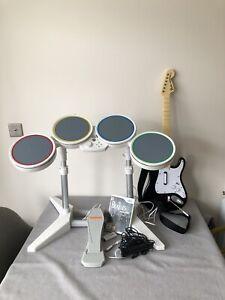 BOXED Rockband Beatles Set Guitar Drum Kit + Mic Nintendo Wii rock band