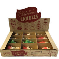 F. Baillargeon Ltée & Gurley Vintage Christmas Candles Santa Choir Tree Deer