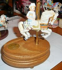 Willitts Porcelain Carousel Horse w/Side Saddle Girl w/ Doll Group 2 #1-1045