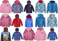 Boys Kids Paw Patrol Hooded Winter Jacket Coat Age 3-8 Years