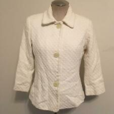 Banana Republic White 100% Cotton Textured Blazer Jacket  10