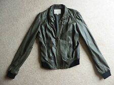 Lucky Brand Olive Leather Jacket - ASO Elena Gilbert Vampire Diaries - Size S