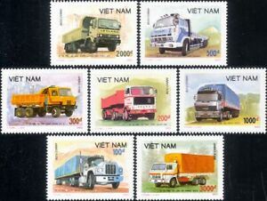 Vietnam 1990 Trucks/Lorries/Lorry/Truck/Motoring/Transport/Business  7v set 282m
