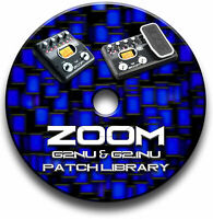 ZOOM G2Nu & G2.1Nu PATCH TONE LIBRARY CD GUITAR EFFECTS PEDALS