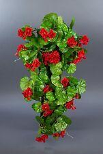 Geranienhänger 70cm rot ZF - künstliche Geranie Blume Hängegeranie Kunstpflanzen