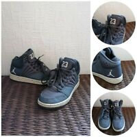 Nike Jordan 1 Flight 4 Prem BG Hi-Top Grey Trainers - Size UK 5 (Eur 38)