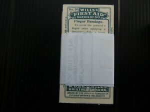 ONE COMPLETE SET CIGARETTE CARDS WILL'S FIRST AID WITH ALBUM CLAUSE