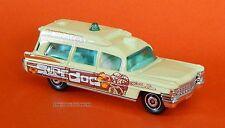 2012 Matchbox Loose 1963 Cadillac Ambulance Light Yellow Surf Doc Beach Patrol