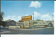 CH-455 NM Albuquerque Del Webbs Hiwayhouse Hotel Motel, Chrome Postcard Old Cars