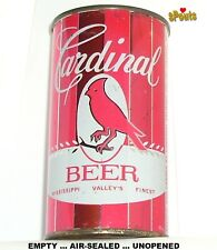 NICE VINTAGE 1950's CARDINAL FLAT TOP MAN CAVE BEER CAN MISSOURI STATE RED BIRD