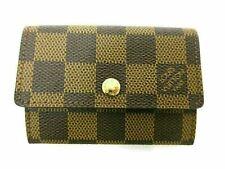 Authentic Louis Vuitton Damier Porte Monnaie Plat N61930 Coin Purse Wallet 90389