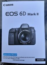 Canon EOS 6D Mark II Manual - Printed & Professionally Bound Size A5 - NEW