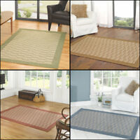 Traditional Flatweave Blue Green Natural and Rust Home Room Rug Runner Carpet