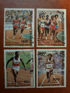 Niger - 1984 -  summer Olympic games los Angeles - 4 stamp set - CTO