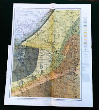 1903 Sabine Artesian Reservoir Louisiana Arkansas Color Map by A.C. Veatch