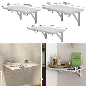 Wooden Folding Wall-mounted Table Floating Drop-leaf Dining Desk Storage Shelf