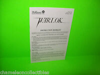 WARLOK By WILLIAMS 1982 ORIGINAL PINBALL MACHINE OPERATORS MINI HANDBOOK