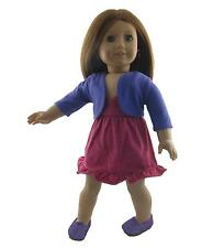 Doll Clothes Berry Knit Sundress and Purple Jacket fits 18 inch American Girl