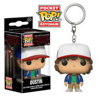 STRANGER THINGS DUSTIN CAP FUNKO POCKET POP! VINYL KEYCHAIN LLAVERO DEMOGORGON