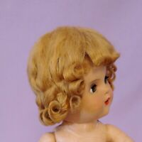 ANTIQUE MOHAIR DOLL WIG c1940