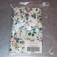 Longaberger White Vine VANITY Basket Liner ~ Brand New in Original Bag!