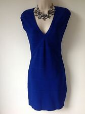 UNTOLD SIZE XS COBALT BLUE BODYCON DRESS PARTY HOLIDAY CLUBBING SMART FAB LOOK