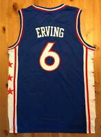 BRAND NEW Julius Erving #6 Philadelphia 76ers Blue Stitched Basketball Jersey
