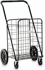 23.5-in Home Indoor Store Storage Swiveler Folding Multi-Use Shopping Cart Black