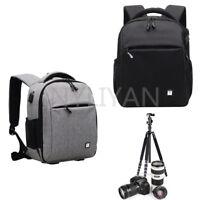 Waterproof Backpack Bag W/USB Ports For Canon Nikon Sony DSLR Camera & Tripod