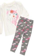 Gymboree Wild For Horses 3 Horse Head Shirt & Gray Leggings Set Fall Winter 13