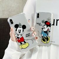 Cute Disney Mickey Minnie Soft Phone Case Cover For iPhone 6s 7 8 Plus XR XS Max