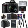 Nikon D5300 24.2MP DSLR Camera w/ 18-140mm VR Lens , Slave Flash & Accessory Kit